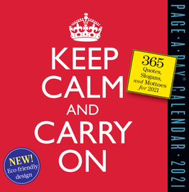 Keep Calm and Carry On Page-A-Day Calendar 2021 - cover
