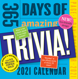365 Days of Amazing Trivia! Page-A-Day Calendar 2021 - cover