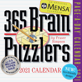 Mensa 365 Brain Puzzlers Page-A-Day Calendar 2021 - cover