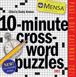 Mensa 10-Minute Crossword Puzzles Page-A-Day Calendar 2021 - cover