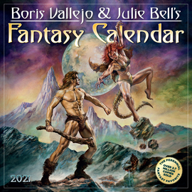 Boris Vallejo and Julie Bell's Fantasy Wall Calendar 2021 - cover