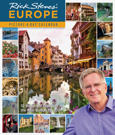 Rick Steves' Europe Picture-A-Day Wall Calendar 2021 - cover
