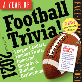 Year of Football Trivia! Page-A-Day Calendar 2021 - cover