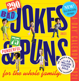 290 Bad Jokes & 75 Punderful Puns Page-A-Day Calendar 2021 - cover
