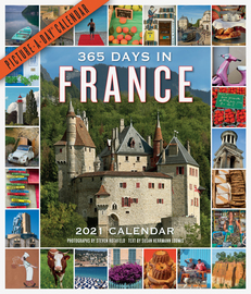 365 Days in France Picture-A-Day Wall Calendar 2021 - cover