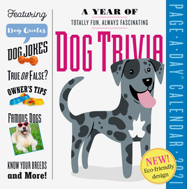 A Year of Dog Trivia Page-A-Day Calendar 2021 - cover