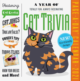 A Year of Cat Trivia Page-A-Day Calendar 2021 - cover