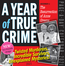 A Year of True Crime Page-A-Day Calendar 2021 - cover