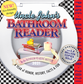 Uncle John's Bathroom Reader Page-A-Day Calendar 2021 - cover