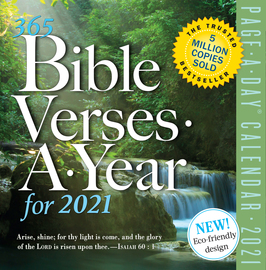 365 Bible Verses-A-Year Page-A-Day Calendar 2021 - cover