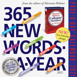 365 New Words-A-Year Page-A-Day Calendar 2021 - cover