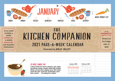 The Kitchen Companion Page-A-Week Calendar 2021 - cover