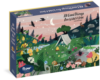 All Good Things Are Wild and Free 1,000-Piece Puzzle (Flow) Adults Families Picture Quote Mindfulness Gift - cover