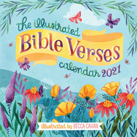 The Illustrated Bible Verses Wall Calendar 2021 - cover