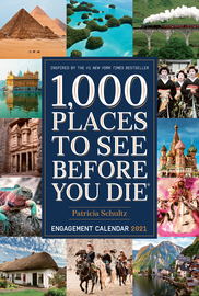 1,000 Places to See Before You Die Engagement Calendar 2021 - cover