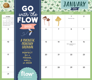 Go with the Flow: A Magnetic Monthly Calendar 2021 - cover