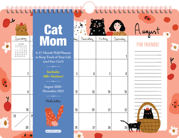 Cat Mom 17-Month Wall Calendar 2021 - cover
