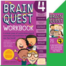 Brain Quest Set: Grade 4 - cover