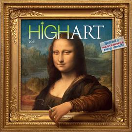High Art Wall Calendar 2021 - cover