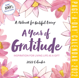 A Year of Gratitude Page-A-Day Calendar 2022 - cover