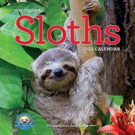 Original Sloths Wall Calendar 2022 - cover