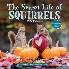 The Secret Life of Squirrels Wall Calendar 2022 - cover
