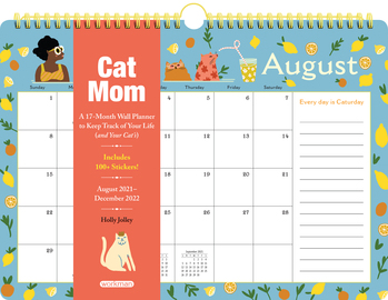 Cat Mom 17-Month Wall Calendar 2022 - cover