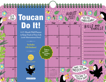 Toucan Do It 17-Month Wall Calendar 2022 - cover