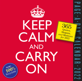 Keep Calm and Carry On Page-A-Day Calendar 2022 - cover