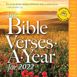 365 Bible Verses-A-Year Page-A-Day Calendar 2022 - cover