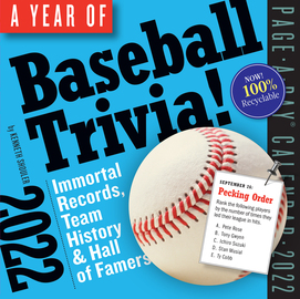 A Year of Baseball Trivia! Page-A-Day Calendar 2022 - cover