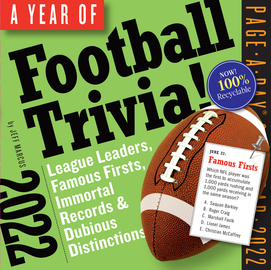 A Year of Football Trivia! Page-A-Day Calendar 2022 - cover