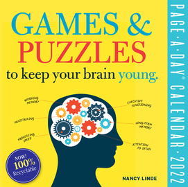 Games and Puzzles to Keep Your Brain Young Page-A-Day Calendar for 2022 - cover