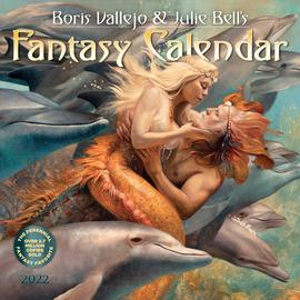 Boris Vallejo & Julie Bell's Fantasy Wall Calendar 2022 - cover