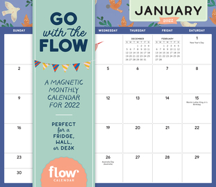 Go with the Flow: A Magnetic Monthly Calendar 2022 - cover