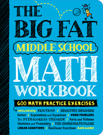 The Big Fat Middle School Math Workbook - cover