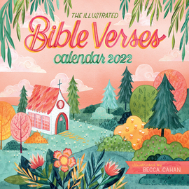 The Illustrated Bible Verses Wall Calendar 2022 - cover