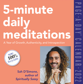 5-Minute Daily Meditations Page-A-Day Calendar 2022 - cover