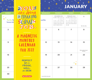 You Are Doing a Freaking Great Job Magnetic Wall Calendar 2022 - cover