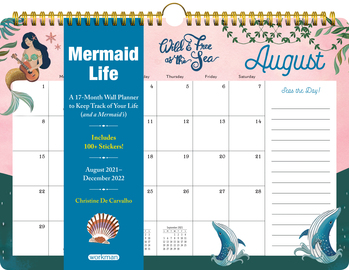 Mermaid Life 17-Month Wall Calendar for 2022 - cover