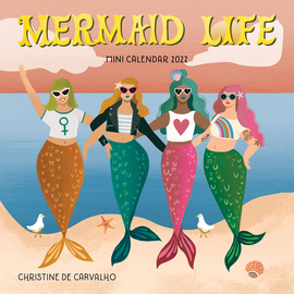 Mermaid Life Mini Wall Calendar 2022 - cover