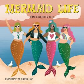 Mermaid Life Mini Wall Calendar 2022 - cover