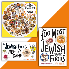 The 100 Most Jewish Foods Gift Set: Book, Game and Puzzle - cover