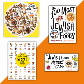 100 Most Jewish Foods Gift Set with Sticker Book - cover