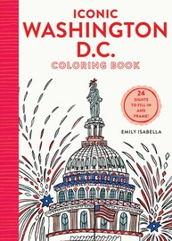 Iconic Washington D.C. Coloring Book - cover
