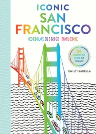 Iconic San Francisco Coloring Book - cover