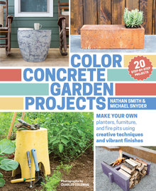 Color Concrete Garden Projects - cover