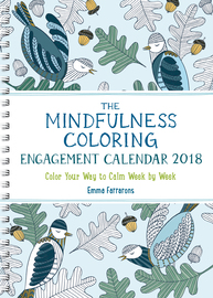 The Mindfulness Coloring Engagement Calendar 2018 - cover