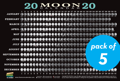 2020 Moon Calendar Card (5 pack) - cover