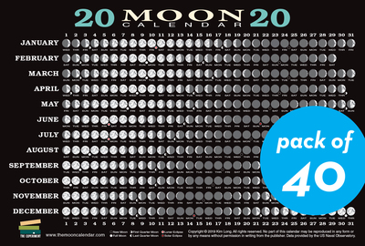 2020 Moon Calendar Card (40 pack) - cover